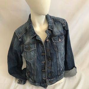 Jackets & Blazers - Express jean jacket distressed